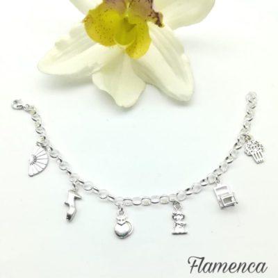 Pulsera plata flamenca
